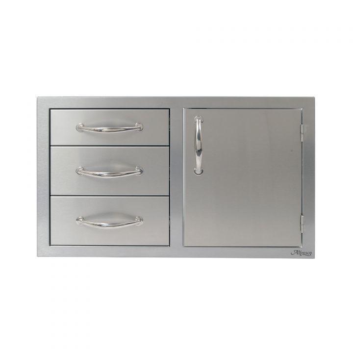 Alfresco 32″ Combo Door and Triple Drawers