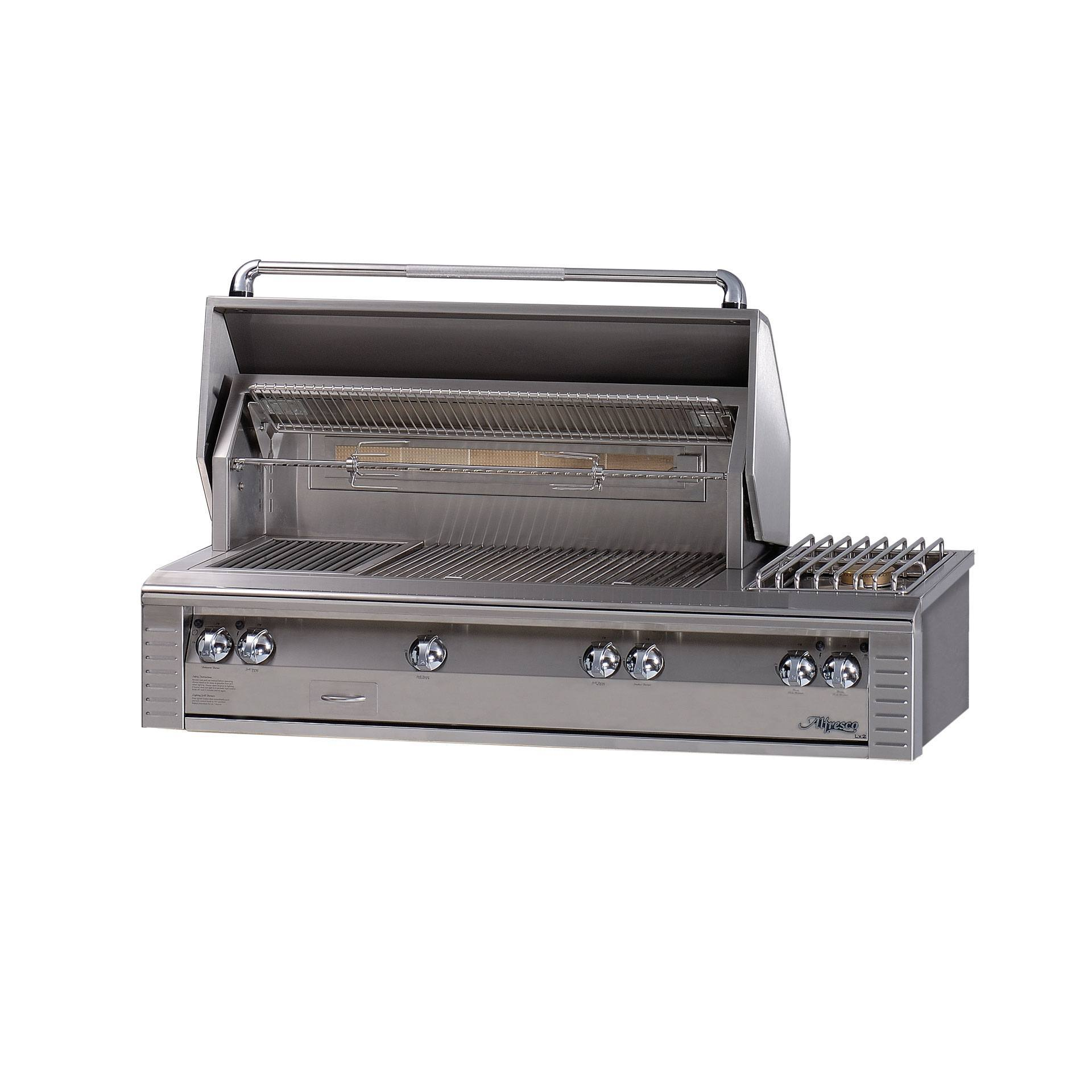 Alfresco 56 Quot Sear Zone Grill With Side Burner Leisure Living