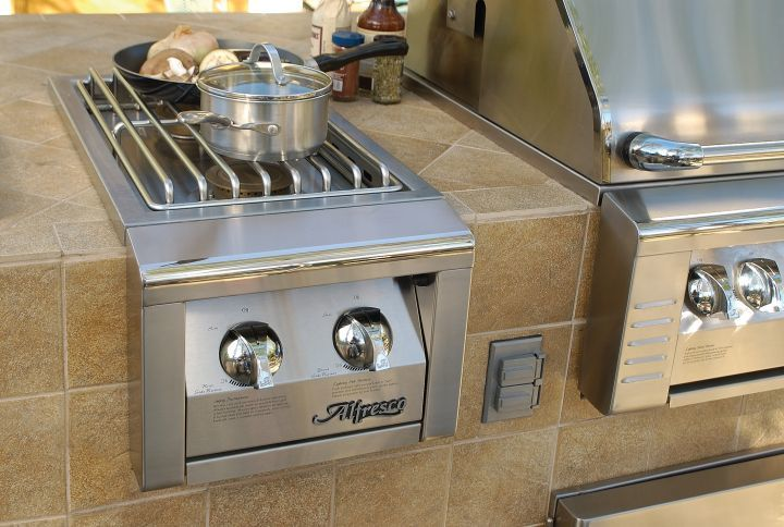 Alfresco Built-In Dual Side Burner