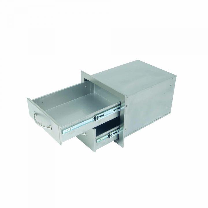 Alfresco Double Storage Drawers Open