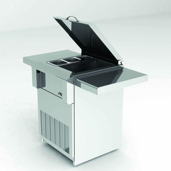 Alfresco Drop in Refrigerator with Cart