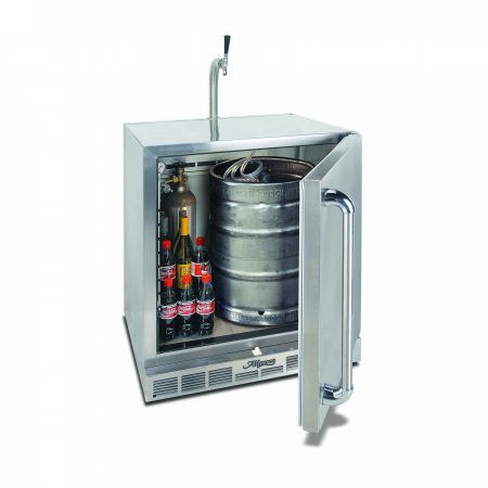 Alfresco One Door Refrigerator with Beer Dispensing Kit