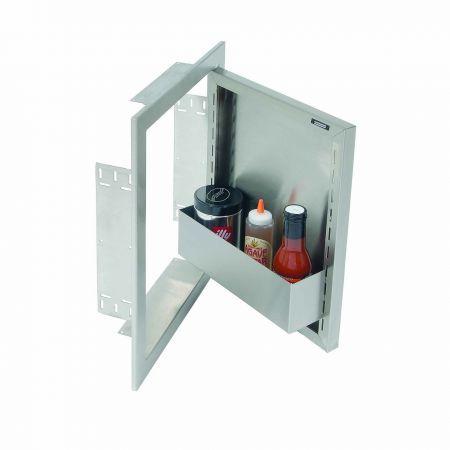 Alfresco Single Access Door Open