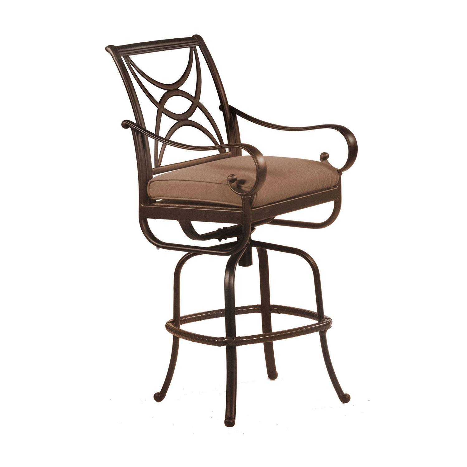 Alumont Santa Barbara Cushion Swivel Counter Stool