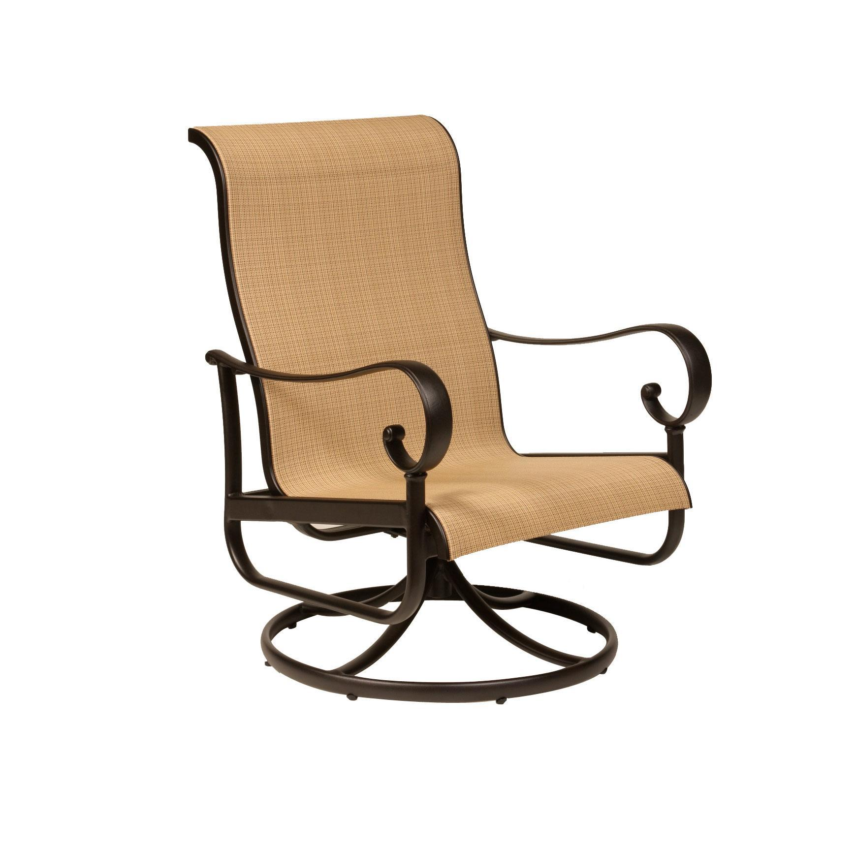 Alumont Santa Barbara Sling Club Swivel Rocker Leisure