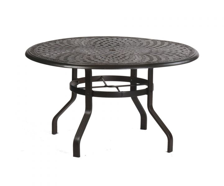 alumont waverly 48 quot round dining table leisure living