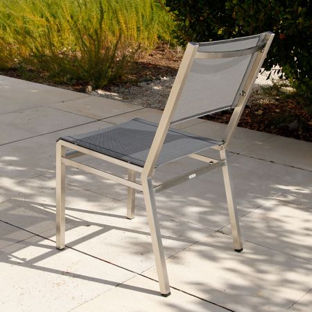 Back View Of A Barlow Tyrie Equinox Dining Side Chair