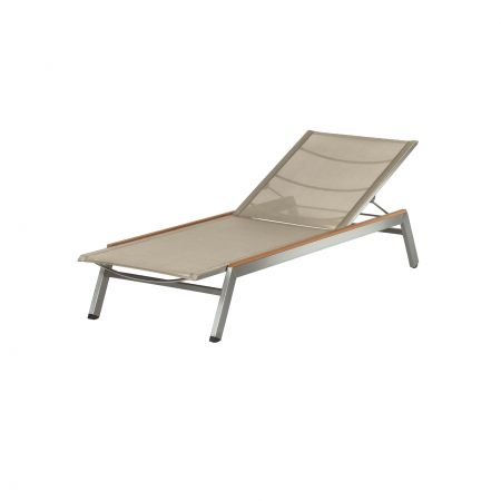 Barlow Tyrie Equinox Chaise Shown With Teak Caps