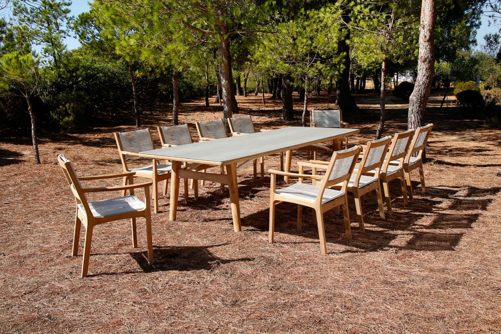 ... Barlow Tyrie Monterey Dining Arm Chairs Shown In Chalk Cord With 118X40  ...