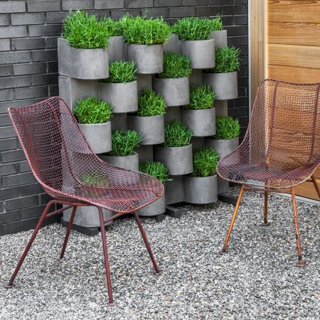 Campania 2pc Garden Anywhere System Cement