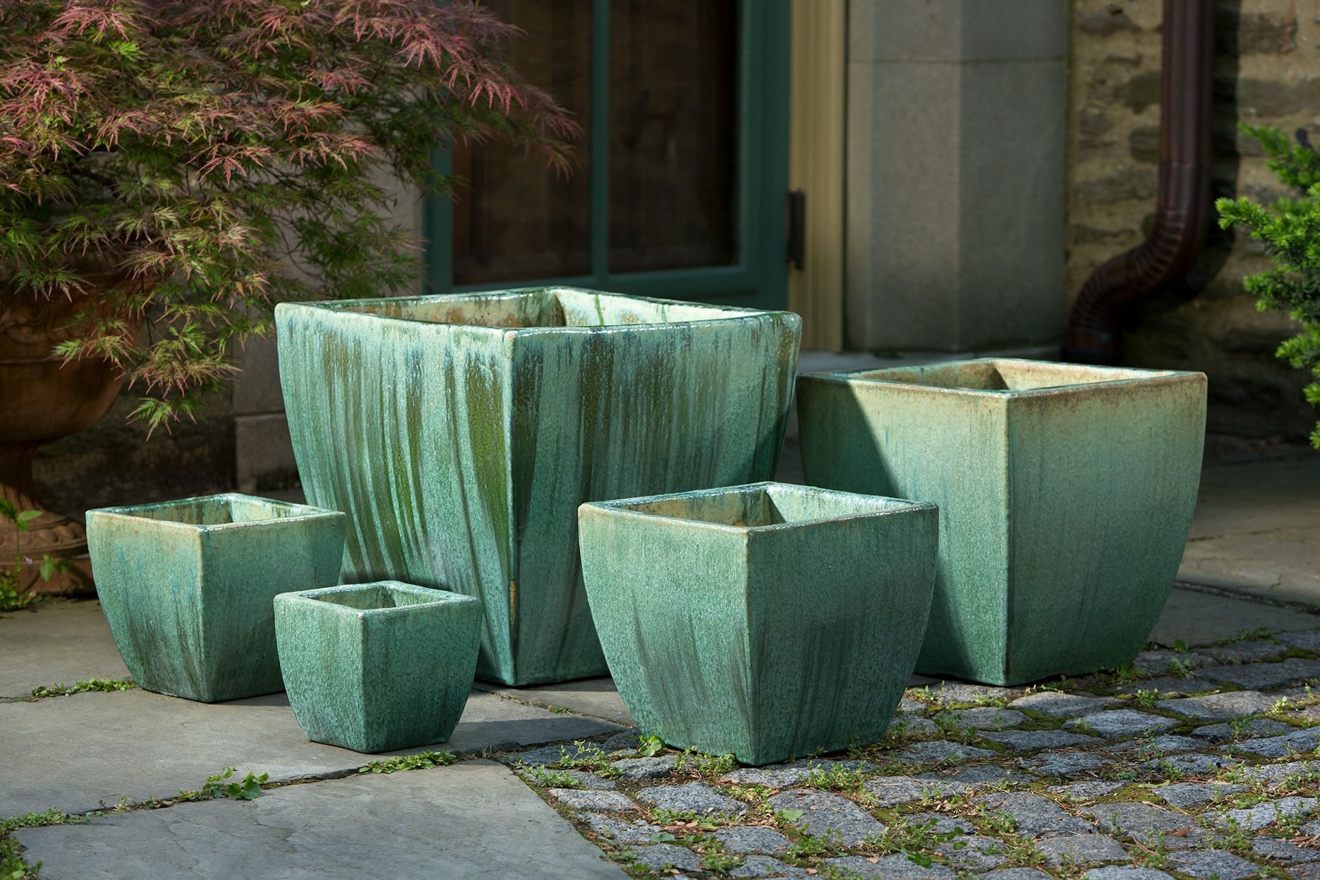 Campania Llona Planter Celadon Pearl All Sizes Leisure
