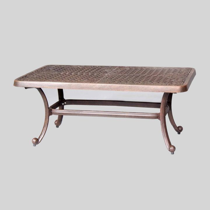 Cast classics brenna 44x24quot rectangular coffee table for 24 x 24 coffee table