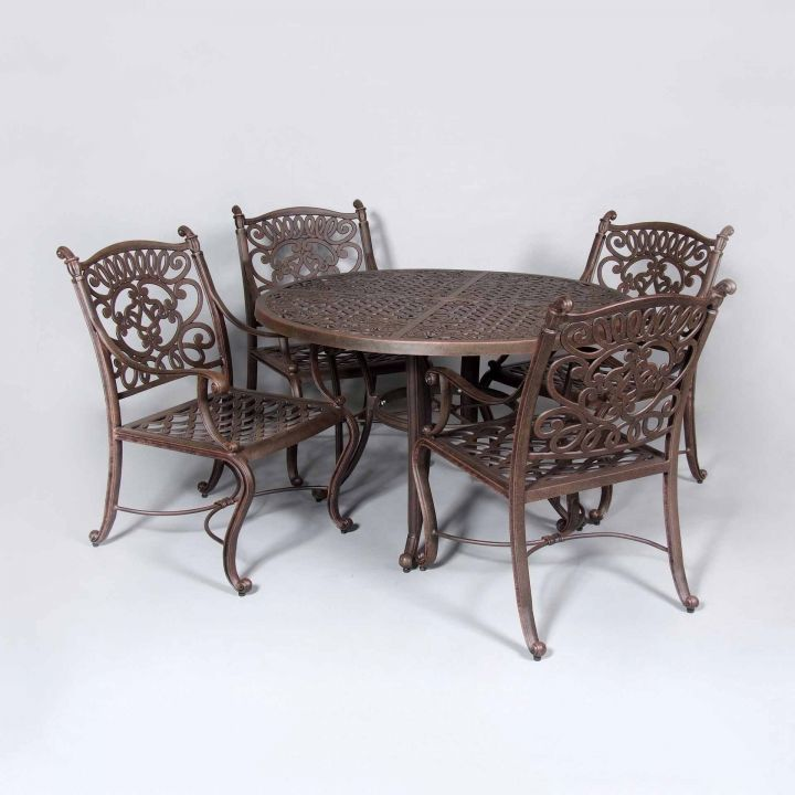 cast classics brenna 48 quot round dining table leisure living