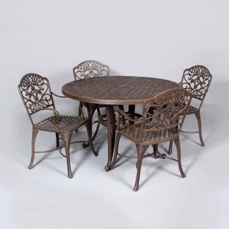 Cast Classics Brenna 48 Round Dining Table Shown With Standard Dining Chairs