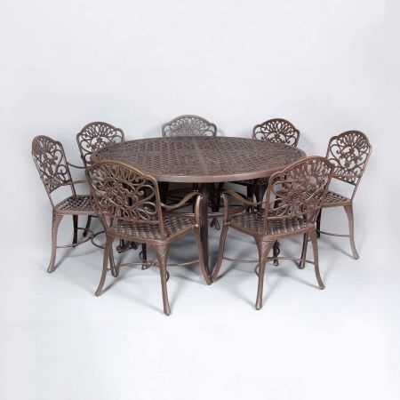 Cast Classics Brenna 60 Round Dining Table Shown With Standard Dining Chairs