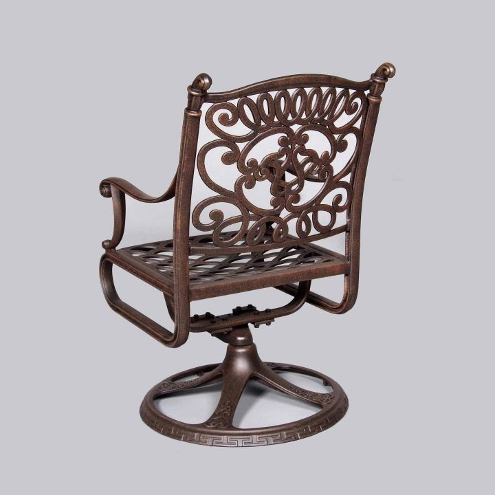 Cast Classics Brenna Premium Swivel Dining Chair Back View