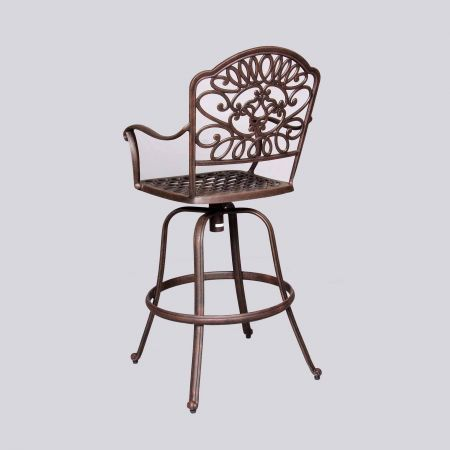 Cast Classics Brenna Standard Swivel Bar Stool Back View