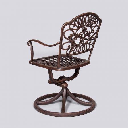 Cast Classics Brenna Standard Swivel Dining Chair Back View