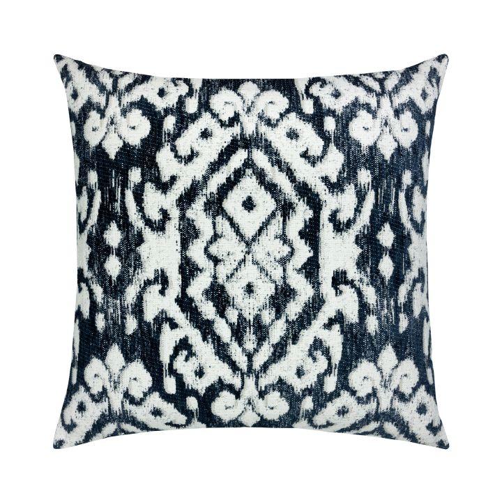 Elaine Smith Bakhmal Indigo Throw Pillow