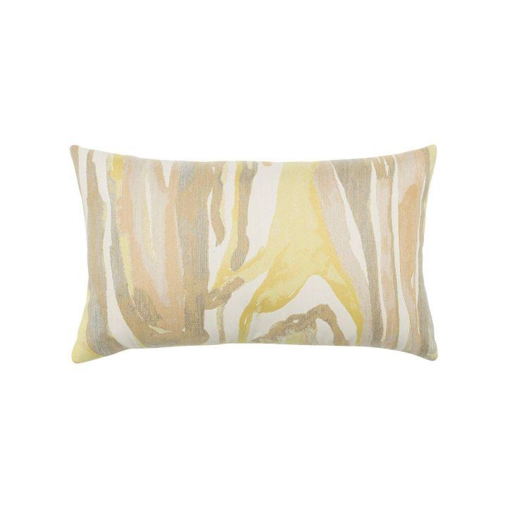 Elaine Smith Bark Citrine Lumbar Pillow