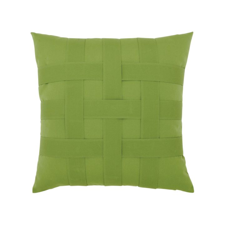 Elaine Smith Basketweave Gingko Throw Pillow
