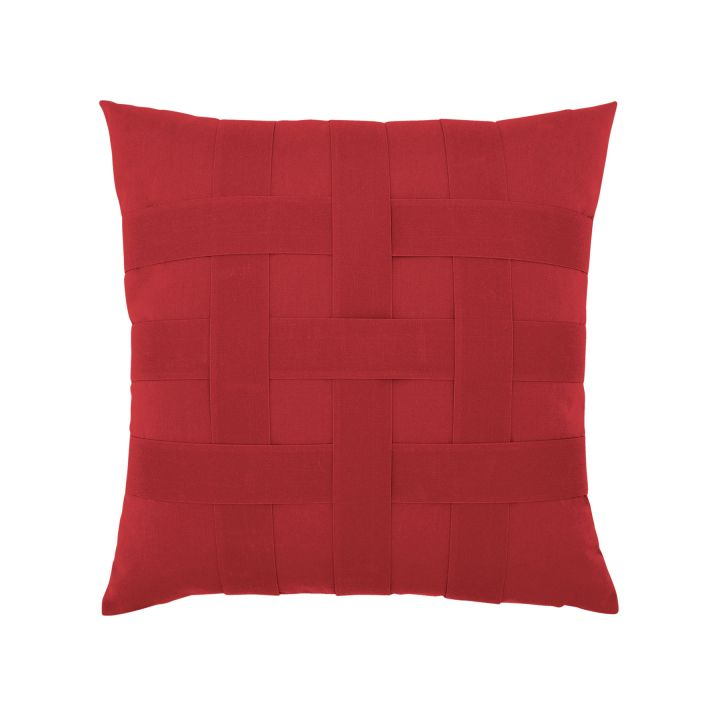 Elaine Smith  Basketweave Rouge Throw Pillow