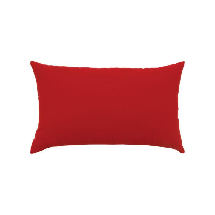 Elaine Smith Canvas Jockey Red Lumbar Pillow
