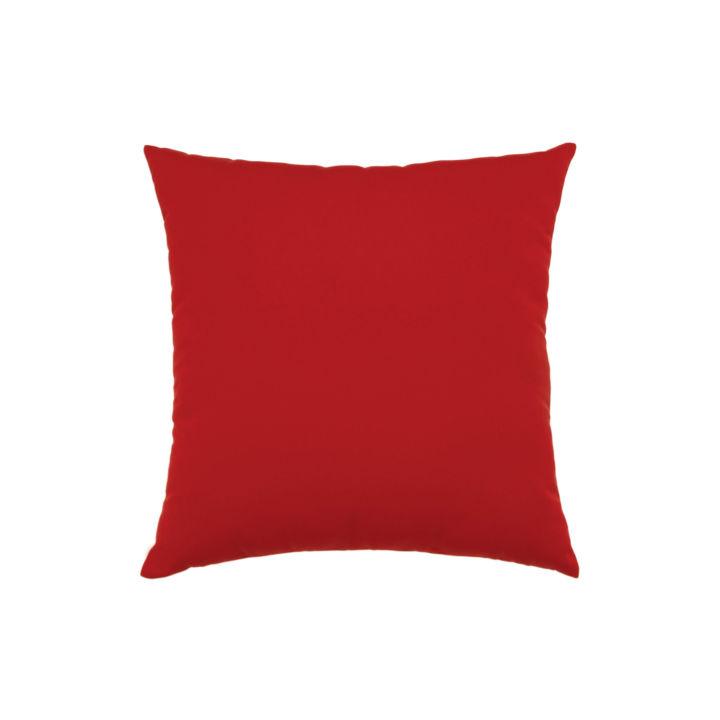 Elaine Smith Canvas Jockey Red Throw Pillow