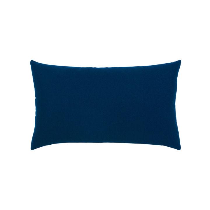 Elaine Smith Canvas Navy Lumbar Pillow