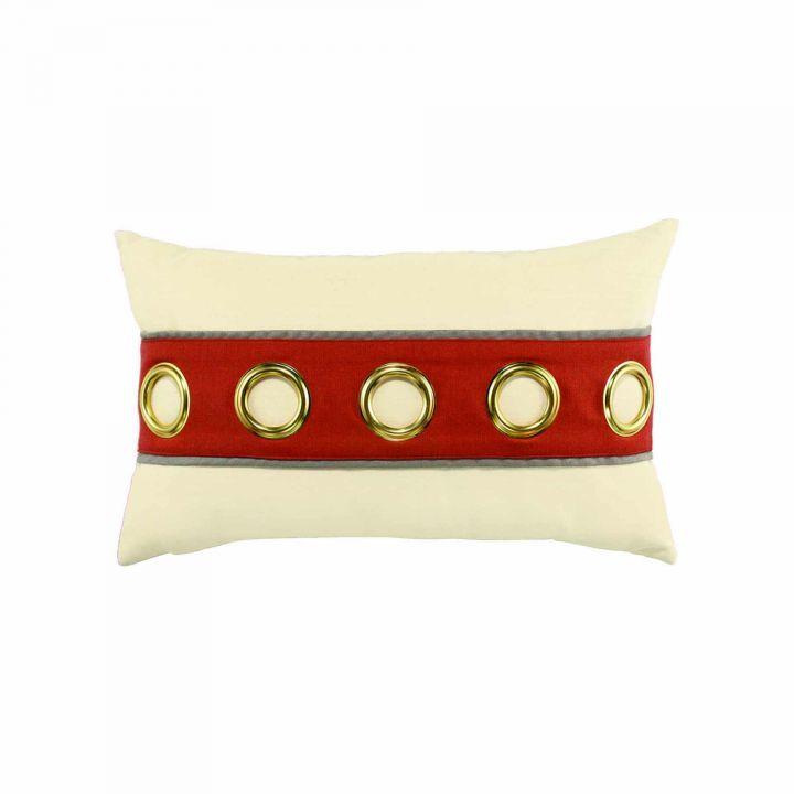 Elaine Smith Coral Cruise Horizontal Jewel Lumbar Pillow