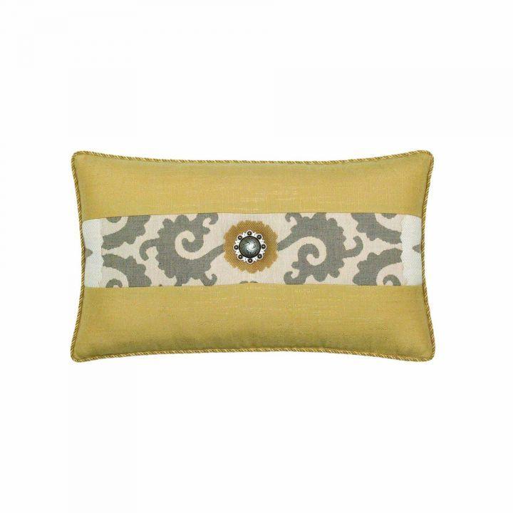Elaine Smith Corded Gold Sedona Lumbar Pillow