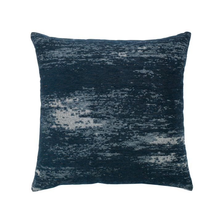 Elaine Smith Distressed Indigo Throw Pillow
