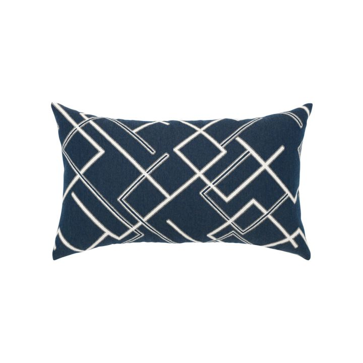 Elaine Smith Divergence Indigo Lumbar Pillow