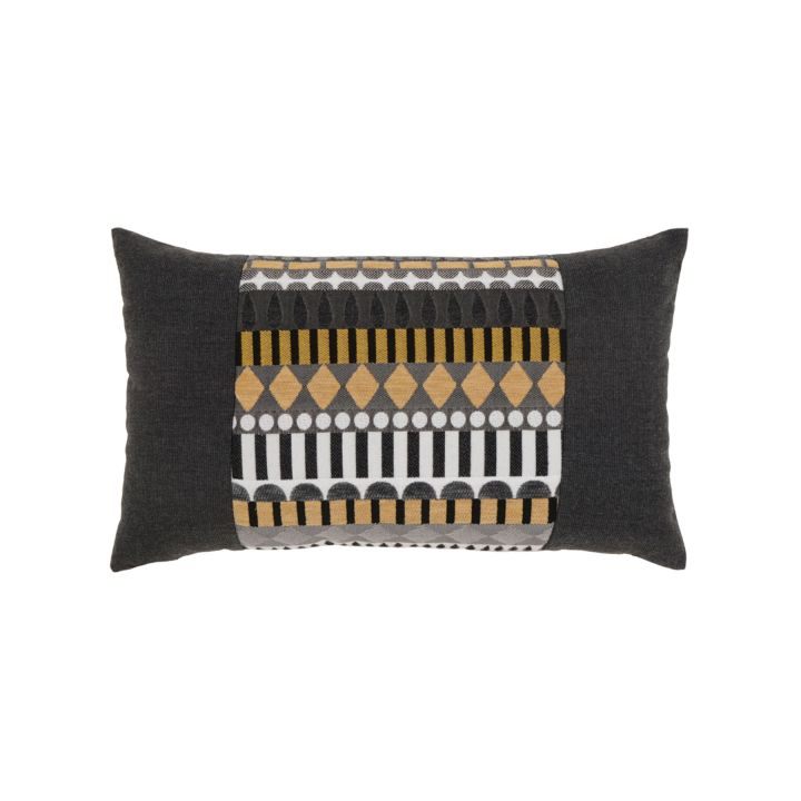 Elaine Smith Golden Deco Lumbar Pillow