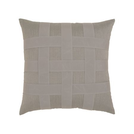 Elaine Smith Gray Basketweave Throw Pillow