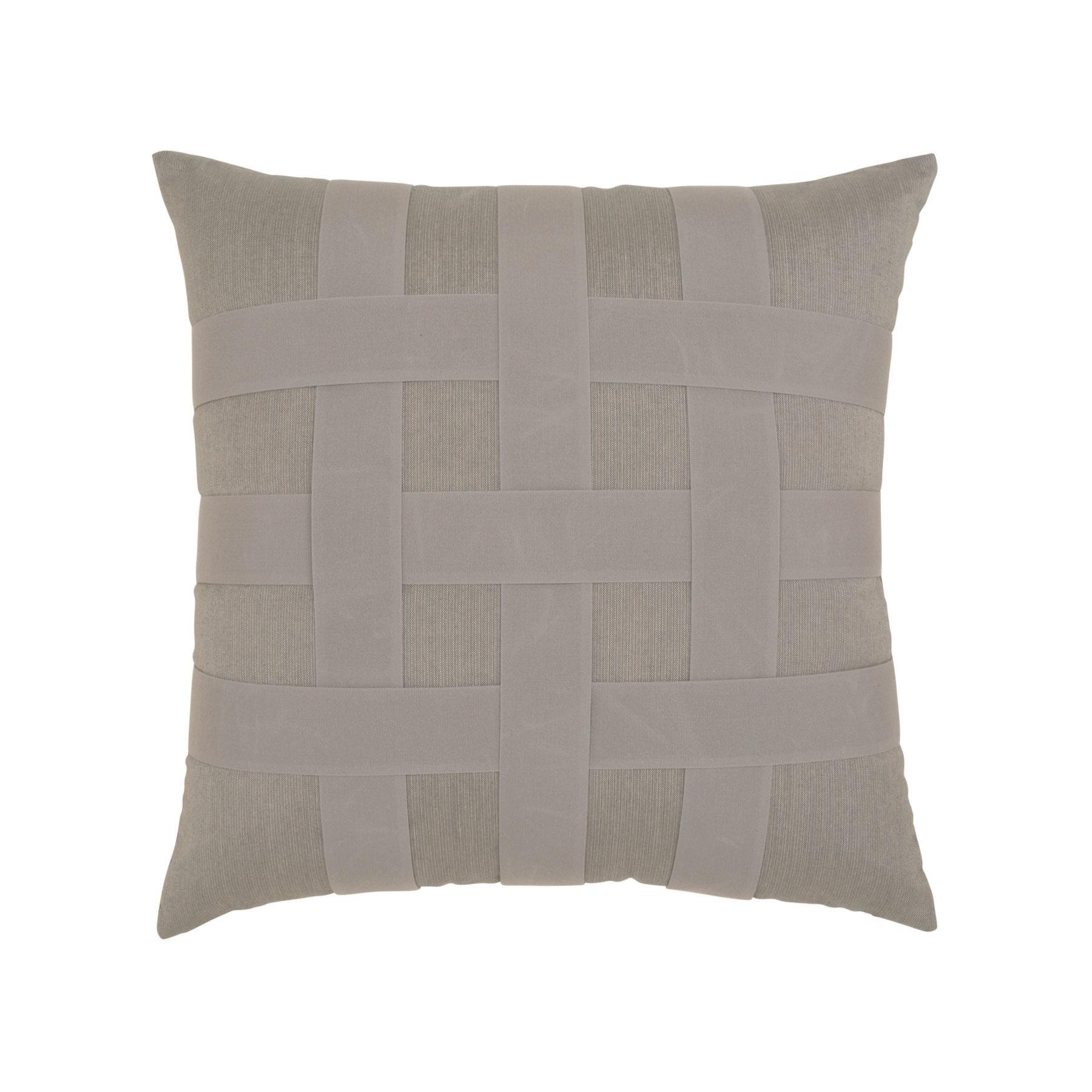 Elaine Smith Gray Basketweave Throw Pillow Leisure Living