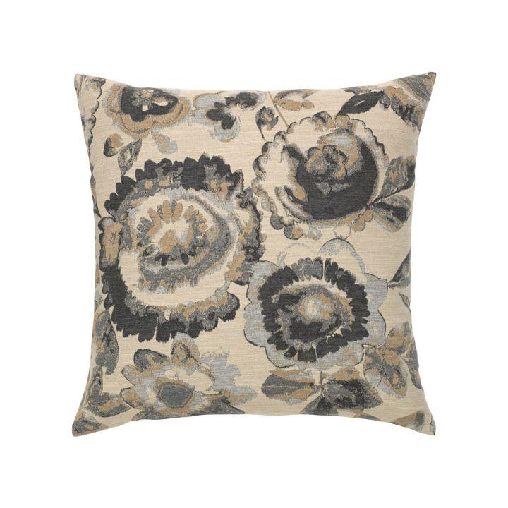 Elaine Smith Grigio Floral Throw Pillow