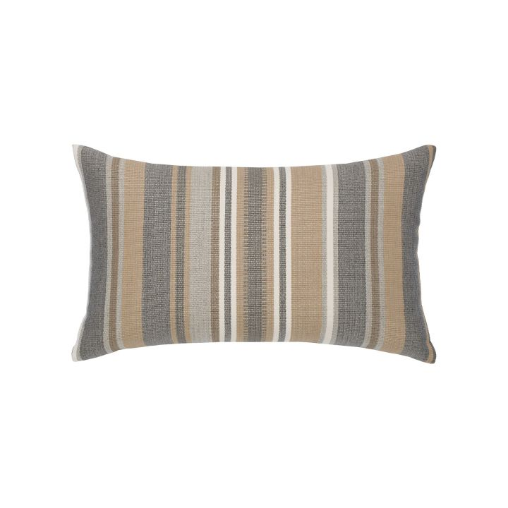 Elaine Smith Grigio Stripe Lumbar Pillow
