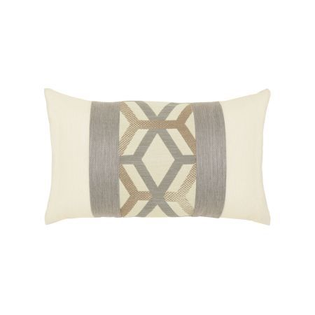 Elaine Smith Lustrous Lines Lumbar Pillow