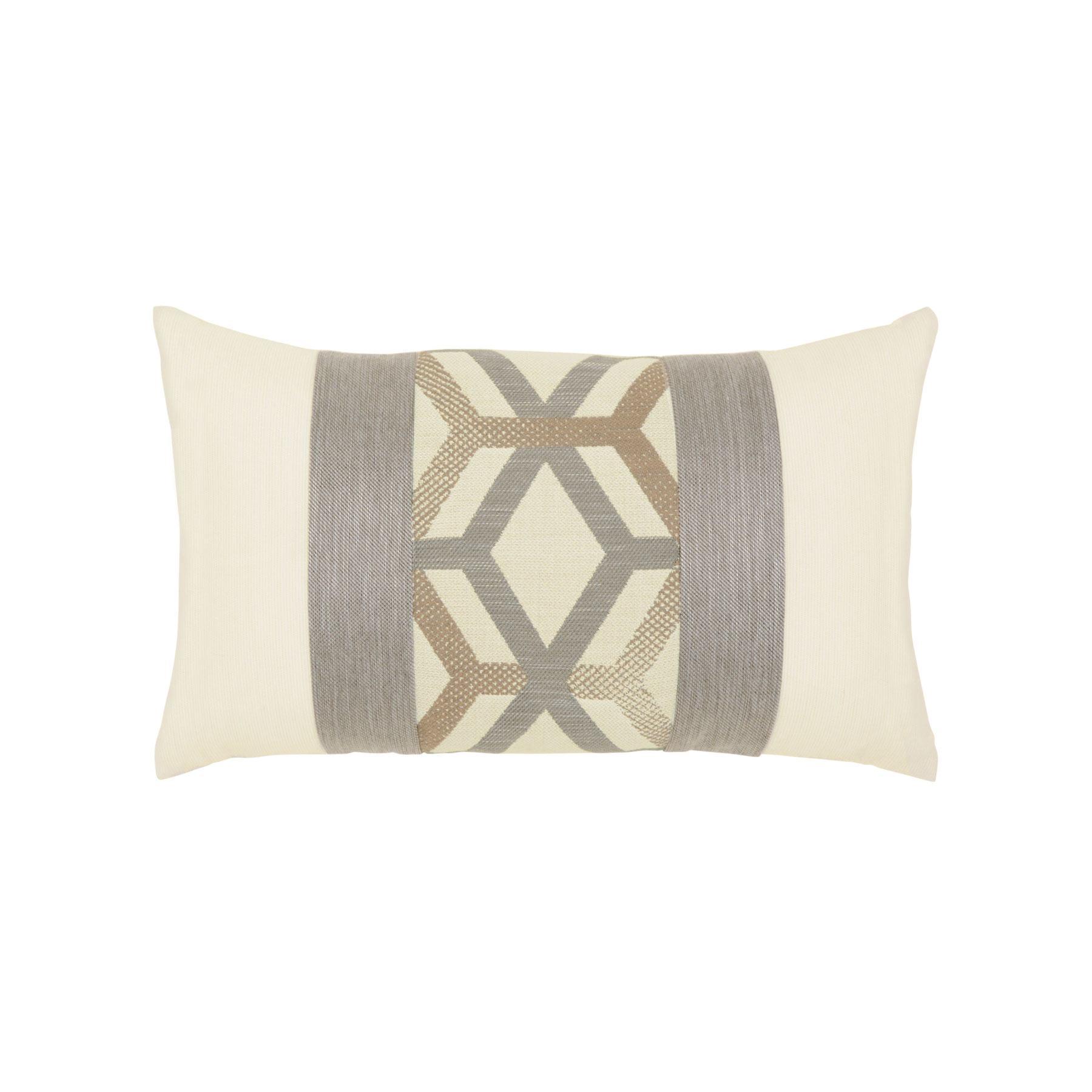 Elaine Smith Lustrous Lines Lumbar Pillow Leisure Living