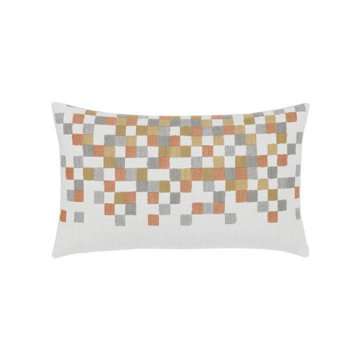 Elaine Smith Metallic Check Lumbar Pillow