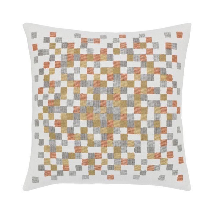 Elaine Smith Metallic Check Throw Pillow