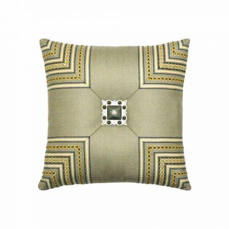 Elaine Smith Mitered Cross Jewel Throw Pillow
