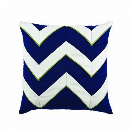 Elaine Smith Navy Cruise Chevron Throw Pillow