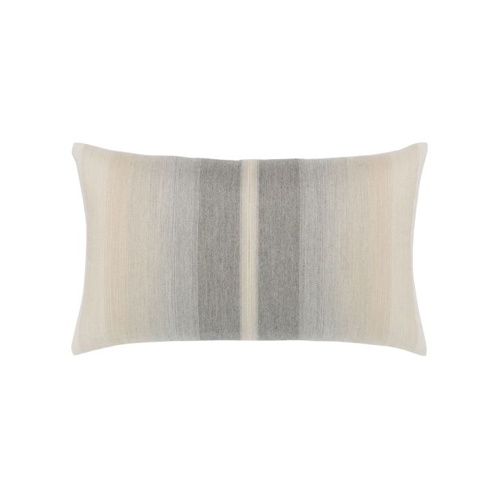 Elaine Smith Ombre Grigio Lumbar Pillow