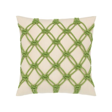 Elaine Smith Peridot Rope Throw Pillow