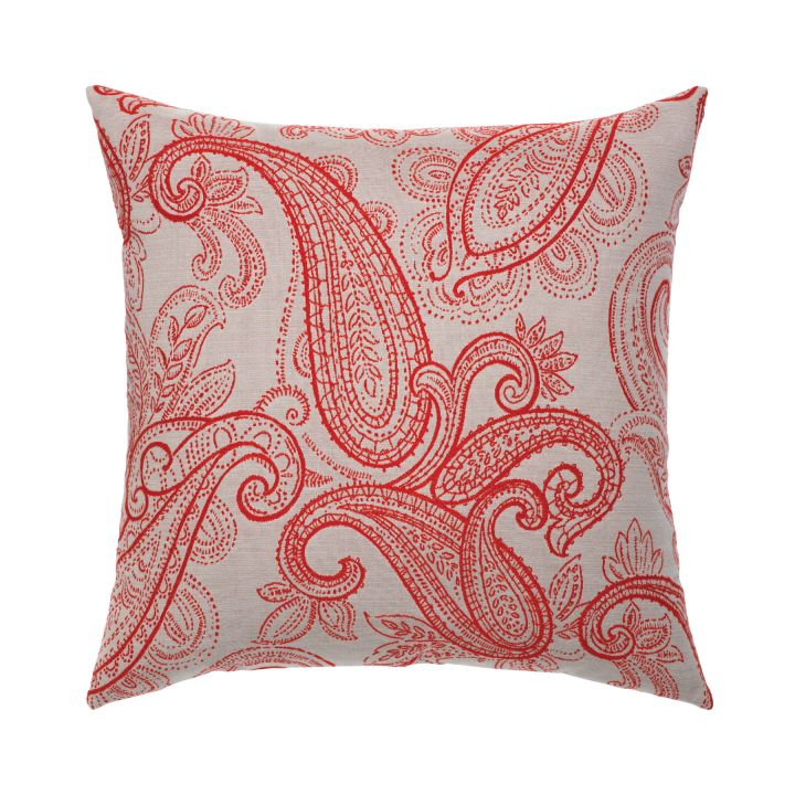 Elaine Smith Polished Paisley Throw Pillow