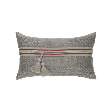 Elaine Smith Textured Smoke Lumbar Pillow
