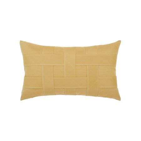 Elaine Smith Wheat Basketweave Lumbar Pillow
