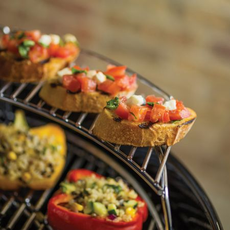 Grilled Bruschetta And Stuffed Bell Peppers On The Weber Master Touch Charcoal Grill